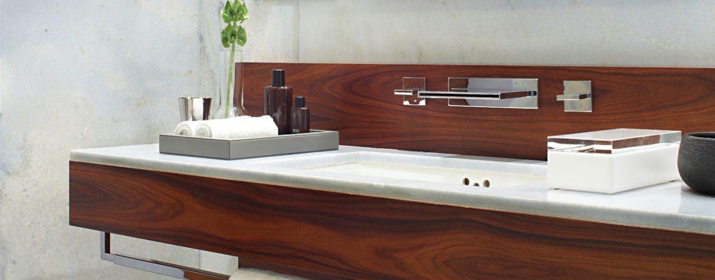 Luxury Marble & Rose Wood Bathroom at Las Alcobas